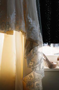 Robe de mariée et robe de réception