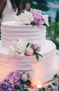 Wedding cake ton parme et fleuri