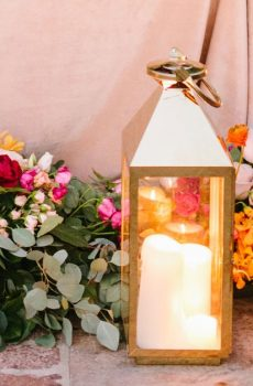 Décoration lanterne romantique